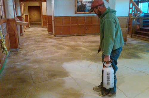 Concrete Overlay Flooring : Acid wash concrete happy guy