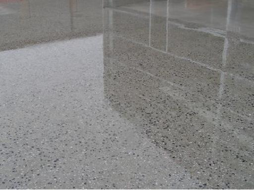 dyes stamping and other finishes can be applied to a polished concrete floor but often a simple polish is all it takes to turn a concrete floor into a